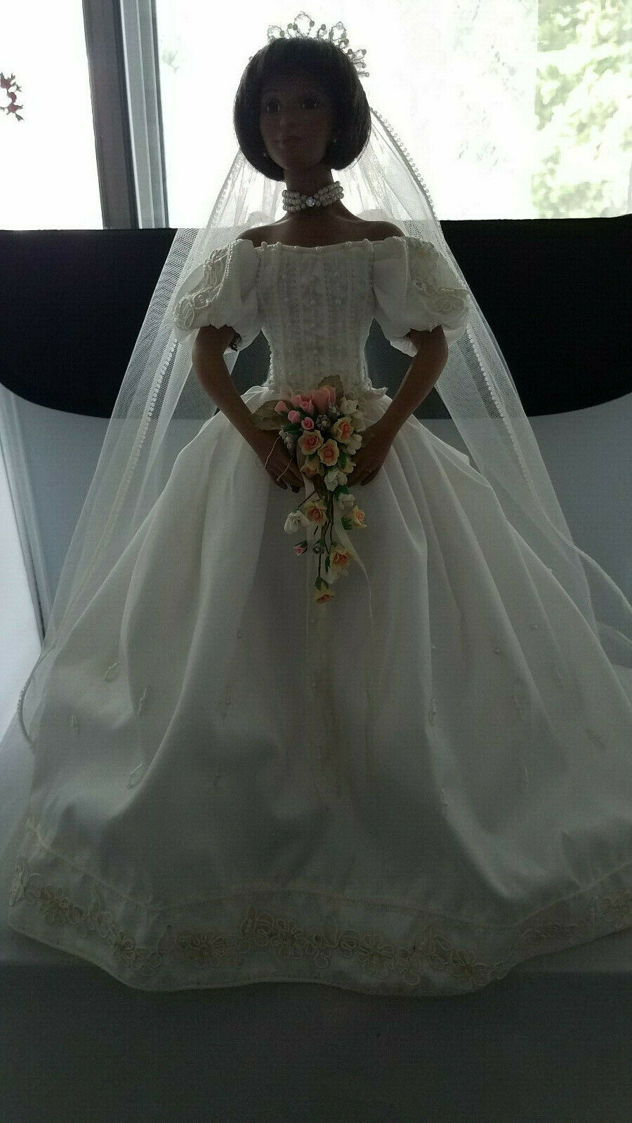 The Ashton-Drake Galleries 17  Beautiful African American Bride Doll Vanessa COA