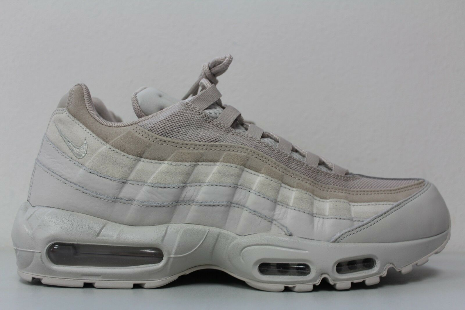 Nike air 95 ridotta dimensione 13 uomini luce ossa filo kaki premio tonale 538416 011