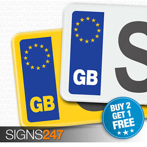 PAIR-GB-CAR-NUMBER-PLATE-STICKERS-EU-European-Vinyl-Car-Sticker-Decal