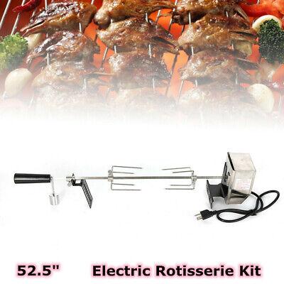 BBQ Grilling Rotisserie Spit Roaster Charcoal Pig Chicken Breef Motor Rod Ki