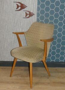Polsterstuhl Armlehnstuhl Details Zu Vintage Sessel Thonet 50er Jahre Esszimmerstuhl Beige Yb6gf7vy