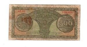 Grecia-Greece-500-dracme-1950-MB-BB-Poor-Good-Pick-325a-lotto-1862