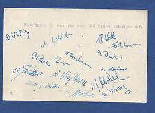 15 Orig.Autogramme   BSG MOTOR HENNINGSDORF (DDR) - 60ziger Jahre  !!  SELTEN