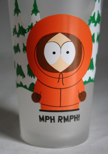 "VERY RARE 2000 SOUTH PARK DRINKING GLASS KENNY MCCORMICK 13cm//5/"" HIGH NEW !"