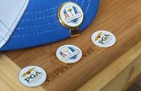 Ryder Cup White 2016 Ball Marker & Hat Clip Gold Hat Clip