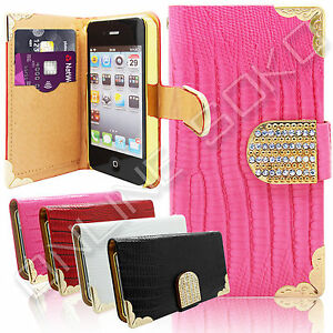 LEATHER-MAGNETIC-CRYSTAL-DIAMOND-BLING-WALLET-CASE-FLIP-COVER-FOR-APPLE-SAMSUNG
