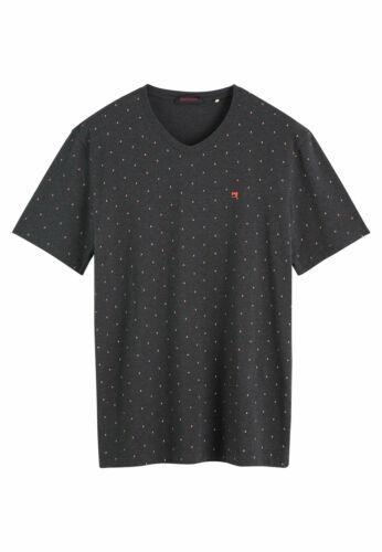 SCOTCH /& SODA T-Shirt Hommes elastane V-Neck Tee 152275 Noir 0221