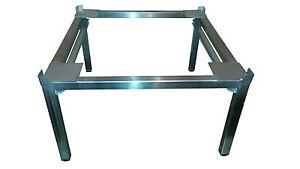 waschmaschine trockner untergestell unterbau edelstahl mit ablage ebay. Black Bedroom Furniture Sets. Home Design Ideas