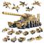 16in1-Militaer-Panzer-Tank-Modell-Bausteine-mit-WW2-Soldat-Figuren-Spielzeug-Toys Indexbild 1