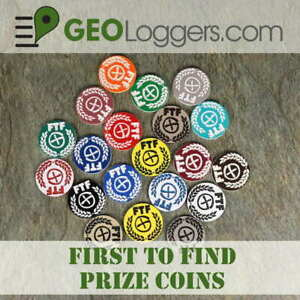 NEW-10-x-FTF-First-to-Find-Geocache-Prize-Tokens-Coins-Laser-Cut-3-Sizes