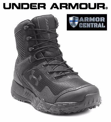 f092835d0c3 NEW Under Armour UA Men's Black VALSETZ 1.5 Tactical Side Zip Boots -  3021036 | eBay