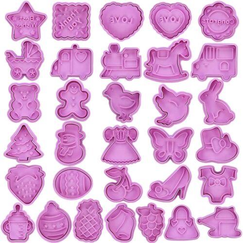 32 Stück Ausstechformen Set Plätzchenformen für Kinder keksausstecher Set