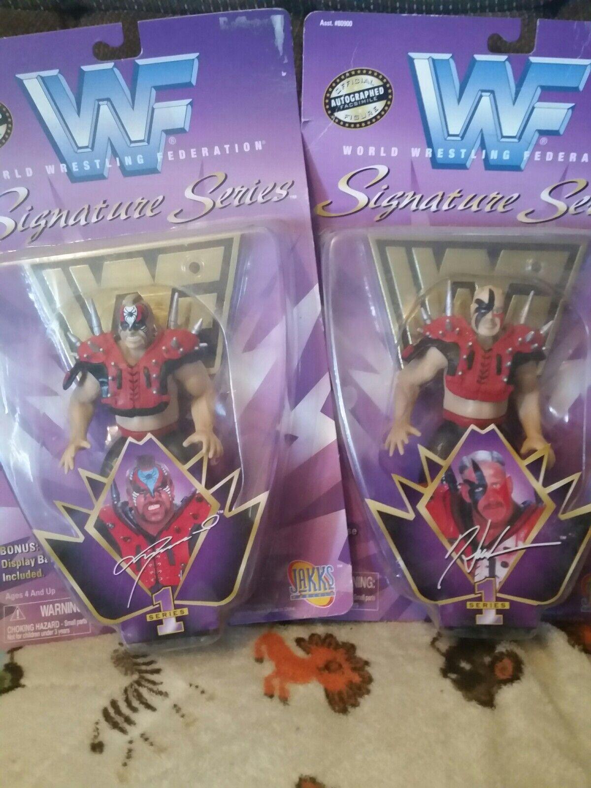 WWF Signature Series Hawk y Animal Lote Moc legión de Doom Nuevo en Caja Lote De 1997