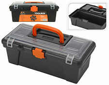 "SMALL MINI TOOLBOX 12"" TOOL STORAGE FISHING TACKLE CRAFT PLASTIC ORGANISER BOX"