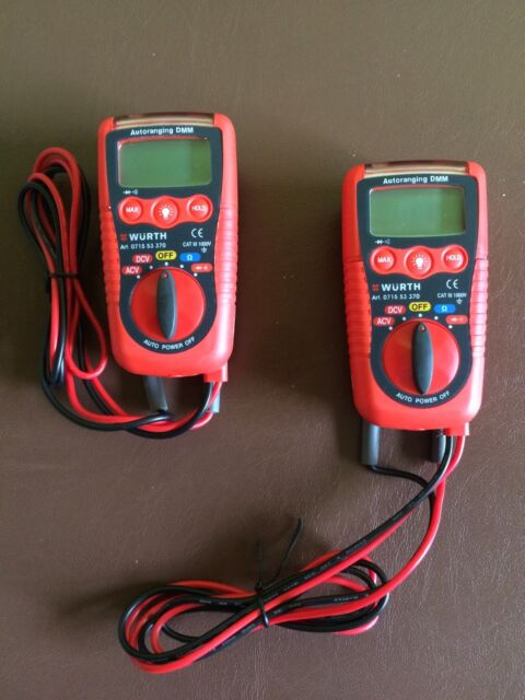 Würth Multimeter Mini digital Tester Elmo Messgerät Spannungsprüfer LED Lampe