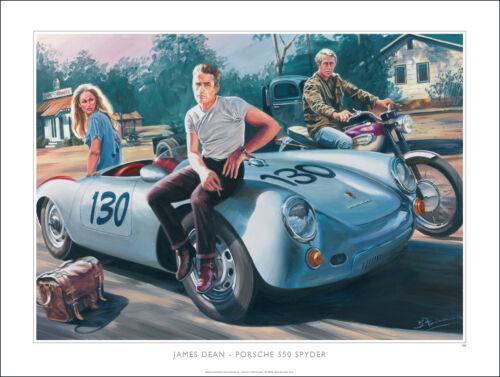 Porsche 550 Spyder James Dean Steve McQueen Triumph Ursula Andress Ltd Ed Print