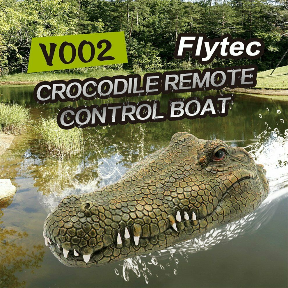 Details About Flytec V002 Rc Boat 2 4g Remote Control Electric Crocodile Head Racing Boat Us