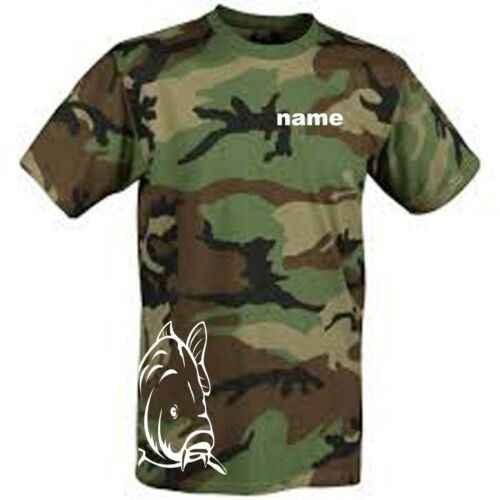 fishing t shirt personalised with your name lake etc