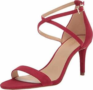 Michael-Michael-Kors-Womens-Ava-Leather-Open-Toe-Casual-Ankle-Scarlet-Size-8-0