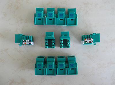 25 Pack Cat-5e Keystone Jacks in Green **TUFF JACKS QUALITY** Lifetime Warranty