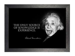 Detalhes Sobre Albert Einstein Knowledge Teórica Físico Frase Inspiradora Póster Foto