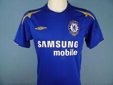 Authentic Chelsea 2005-06 HOME SHIRT UMBRO SAMSUNG MOBIEL taglia small blu