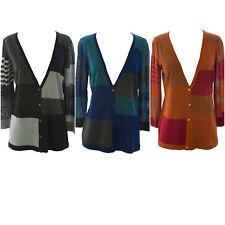 3cc1850156d9 August Silk Women s Petite Rust Silk Blend Colorblock Cardigan PM ...