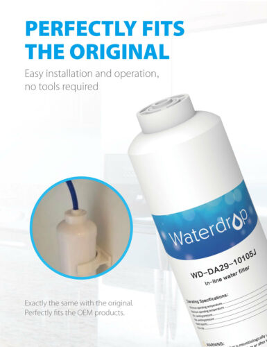 4 x Waterdrop Fridge Filter Replacement for LG ARWF6755 ADQ73693901