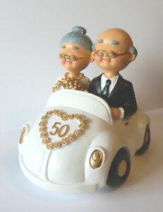 Details Zu Spardose Hochzeitspaar Gold Goldene Hochzeit Brautpaar Auto Groß Brautwagen Weiß
