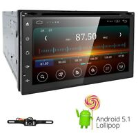 "CAM+High Def 7"" In Dash 2 Din Car Stereo DVD Player GPS Navigation 3D Bluetooth"