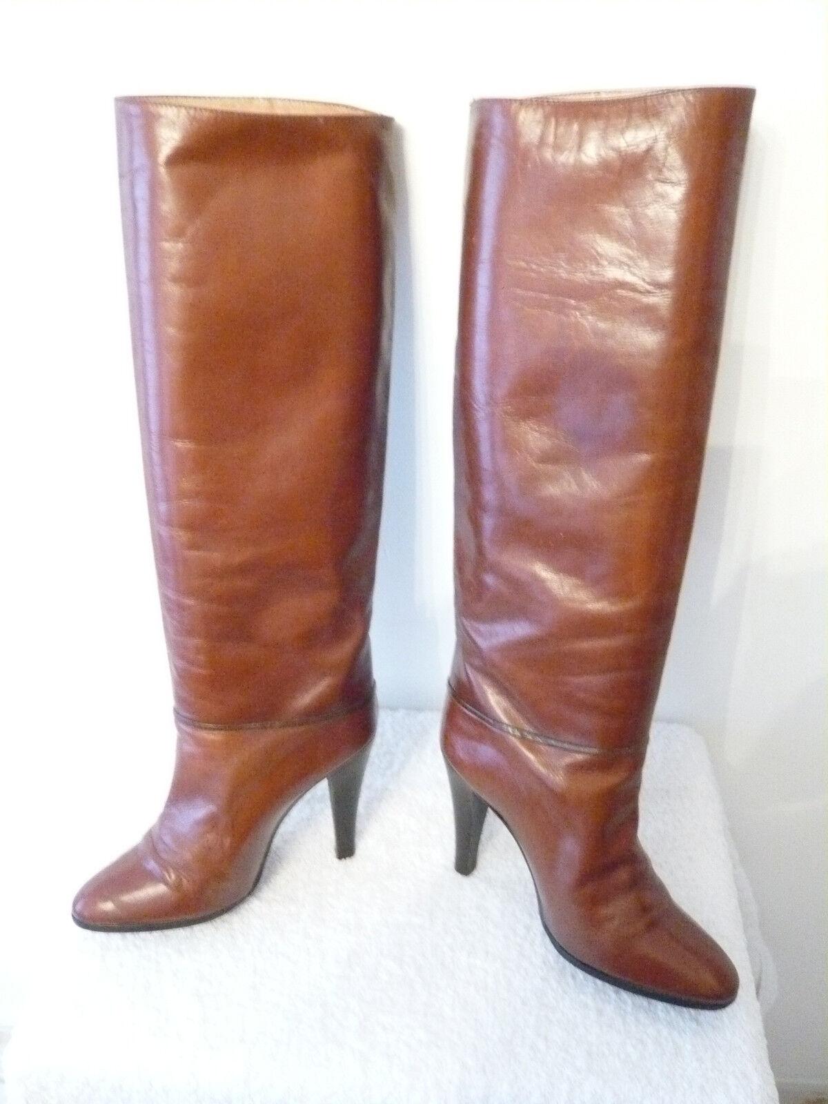 Stiefel Stiefel Stiefel vintage 1982  Gold  - RENE MANCINI --- T. 38 885c94