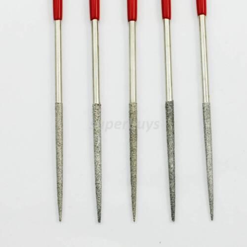 Diamond Stone Wood Miniature Craft Models Metal File Burr I 5pc Filing Tool Set