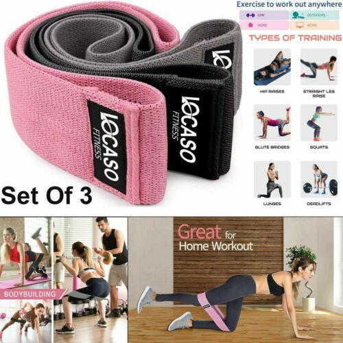 Resistance Band Heavy Duty Booty Non Slip Band Yoga Fitness Equipment UK