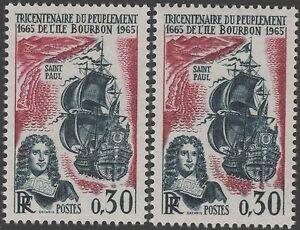 FRANCE-TIMBRE-1461-034-PEUPLEMENT-ILE-BOURBON-VARIETE-COULEUR-034-NEUF-xx-LUXE-K129