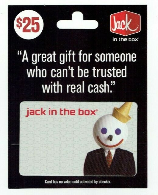 Jack in the Box Gift Card Fast Food Restaurant / Style D - No Value - I Combine