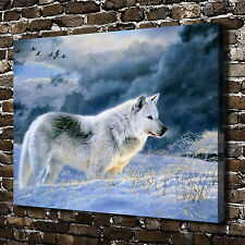 Return Wolf Animal Paintings HD Print on Canvas Home Decor Wall Art Pictures