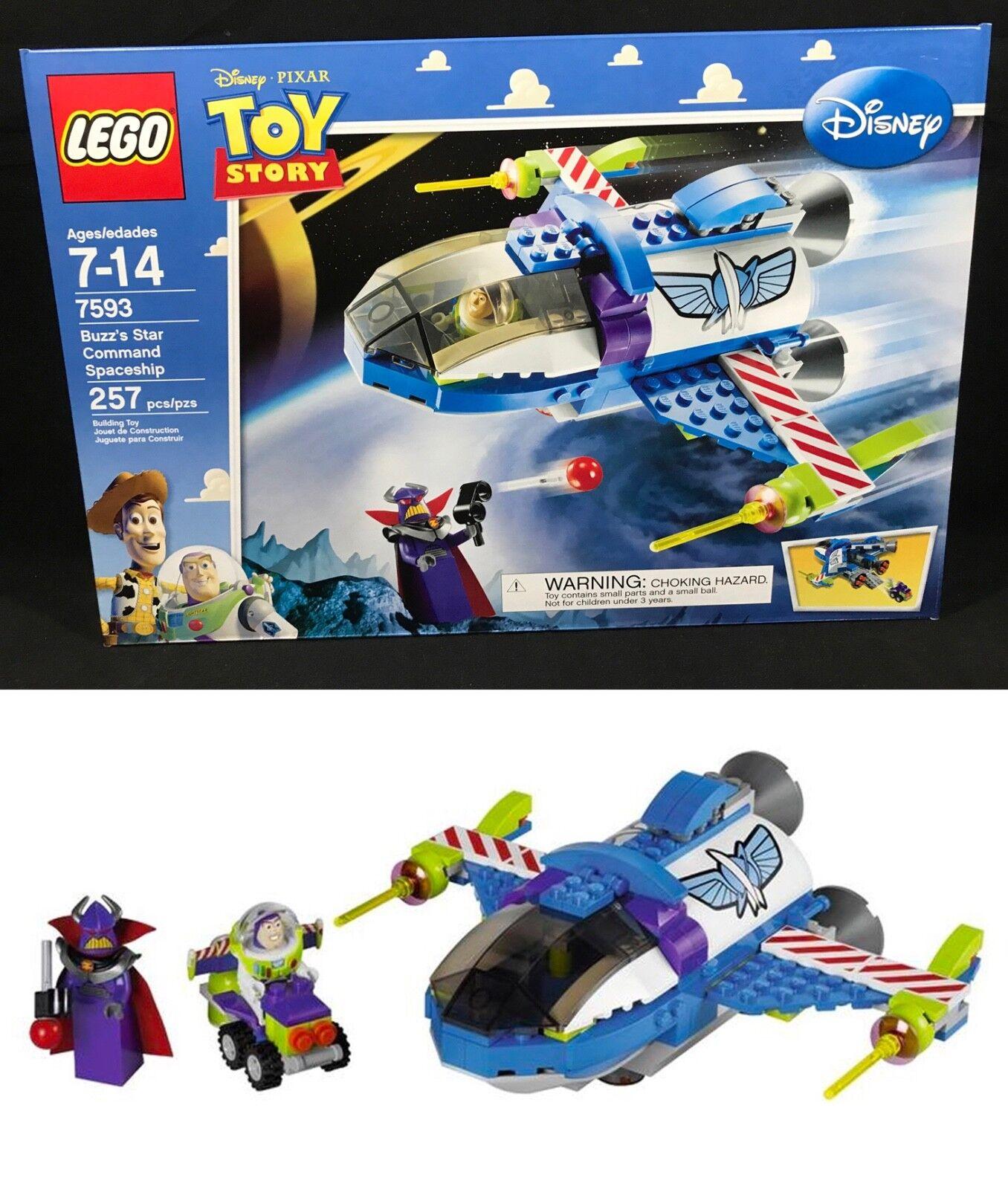 Nuovo LEGO 7593 Toy Story BUZZ'S STAR COMMAND SPACESHIP Pixar BUZZ ZURG Minifigure