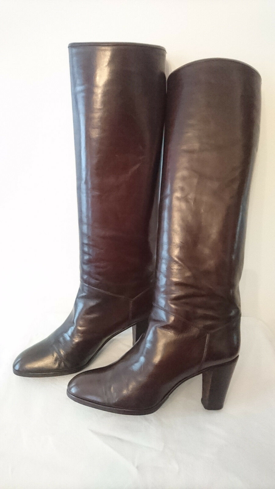 Boots Vintage 1982  Brown  OTTORINO BOSSI  T.37