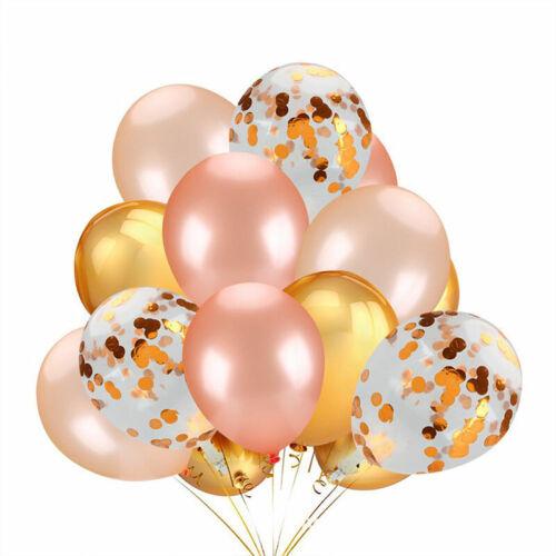 20er Set Luftballons Konfetti Metallic Latex Helium Geburtstag Hochzeit Deko