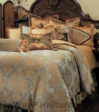 12 Pc. Reversible Elizabeth Queen Master Bedroom Luxury Bedding Set by AICO