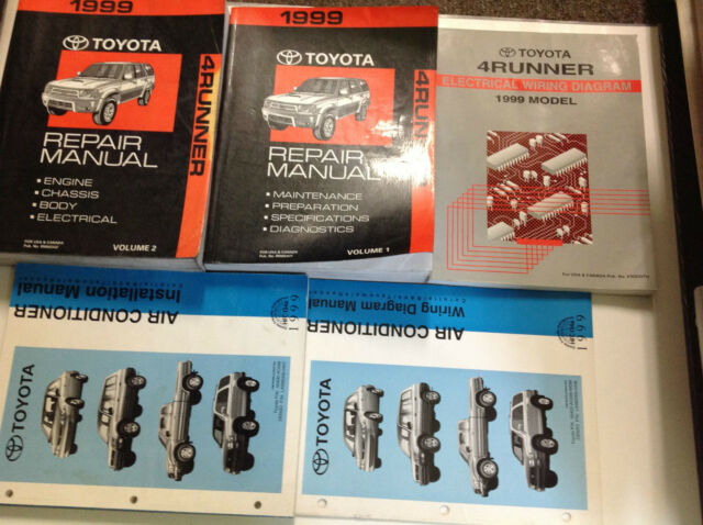 1991 Toyota 4runner Service Shop Repair Workshop Manual Set Oem Ewd Factory