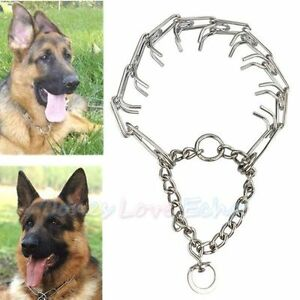 Stainless-Steel-Dog-Training-Choke-Chain-Collar-Adjustable-Prong-Pinch-Collar