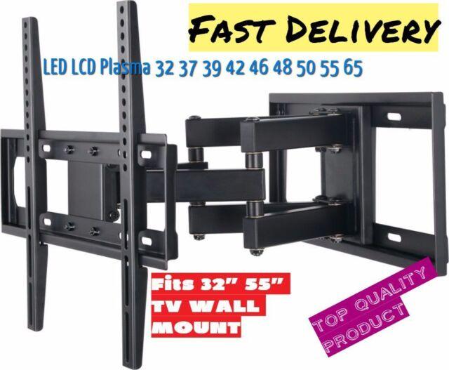 """LED LCD Full Motion Articulating TV Wall Mount Bracket Tilt Swivel For 32""""–55"""""""