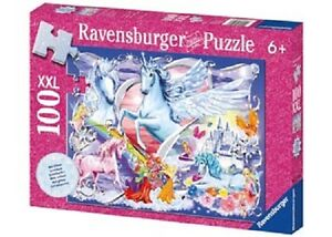 Ravensburger - Amazing Unicorns Glitter Puzzle 100 pieces * NEW jigsaw castle