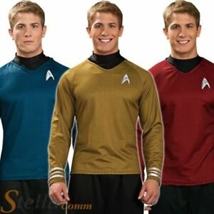 Image is loading Adult-Mens-Star-Trek-Shirts-Official-Scotty-Kirk-  sc 1 st  eBay & Adult Mens Star Trek Shirts Official Scotty Kirk Spock Fancy Dress ...