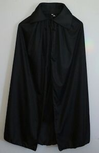 Adult-Black-Cape-Cloak-Robe-Halloween-Vampire-Witch-Wizard-Fancy-Dress-Costume
