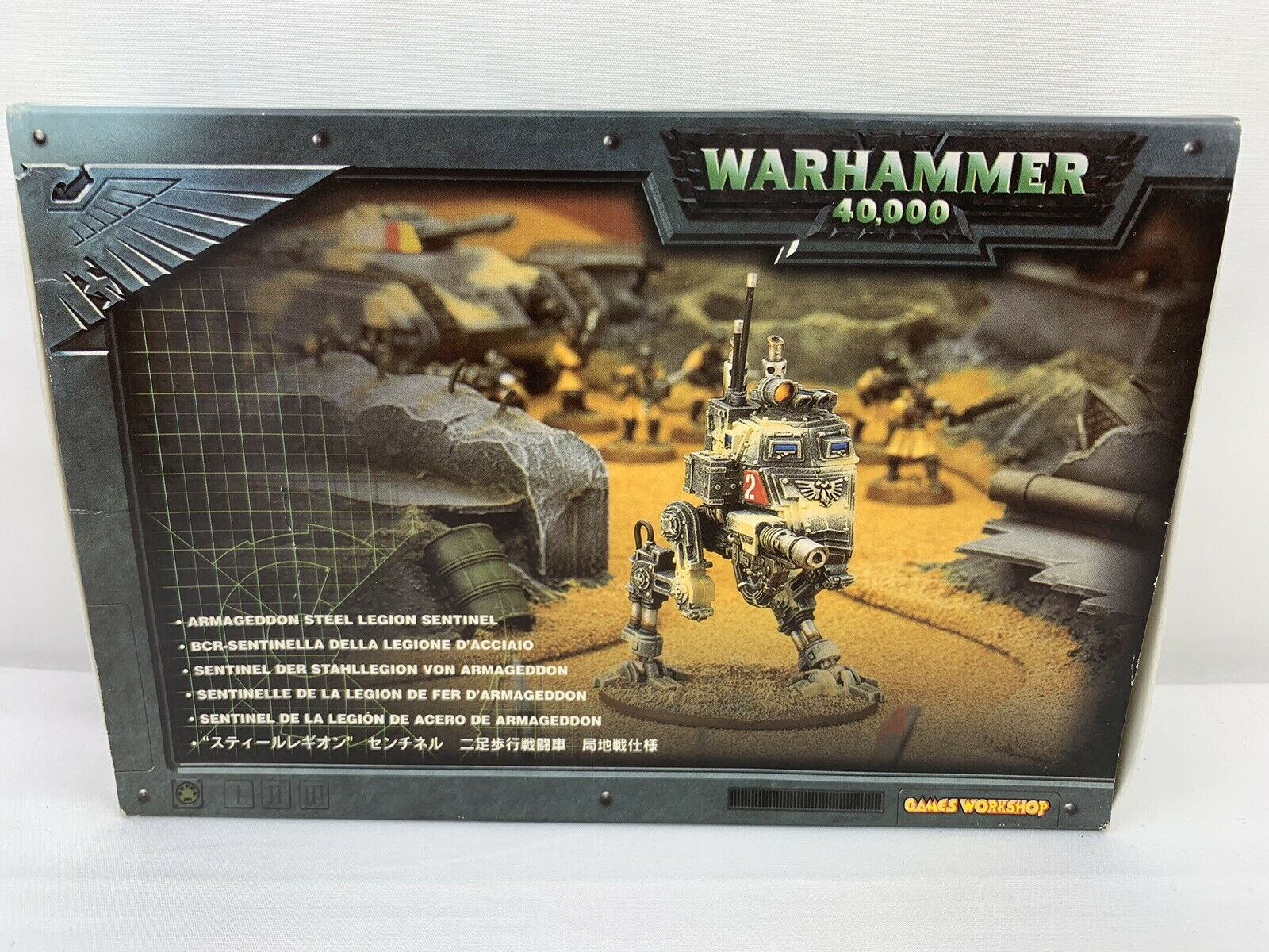 Warhammer 40k Armageddon Steel Legion Sentinel Metal & Plastic Miniature