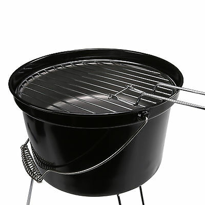 Portable Lightweight Camping Charcoal Bucket Garden Grill Picnic BBQ Barbecue
