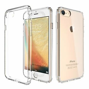 New For Apple iPhone 8 7 Hard Clear Case Bumper TPU Protective Shockproof Cover 700355485681