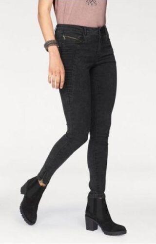 Only Jeans Royal BIKER NUOVO TG S DONNA PANTALONE SKINNY STRETCH DENIM NERO l30